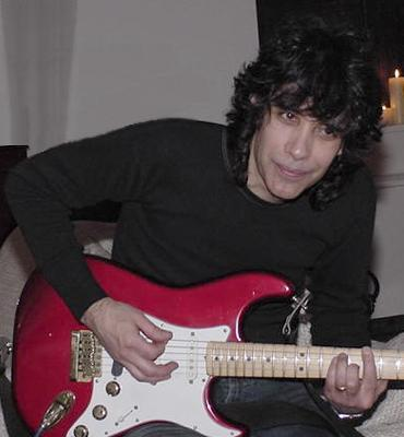 Stu Newman with Red Strat